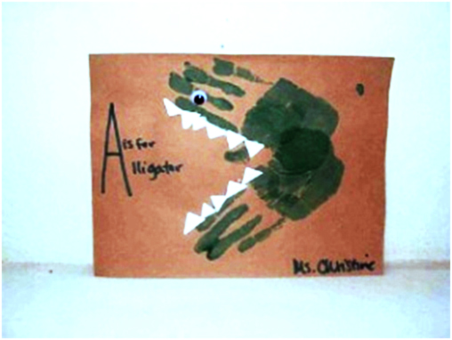 Activit s du mois for Peinture crocodile