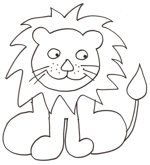 Activit s du mois - Dessiner un lion facile ...