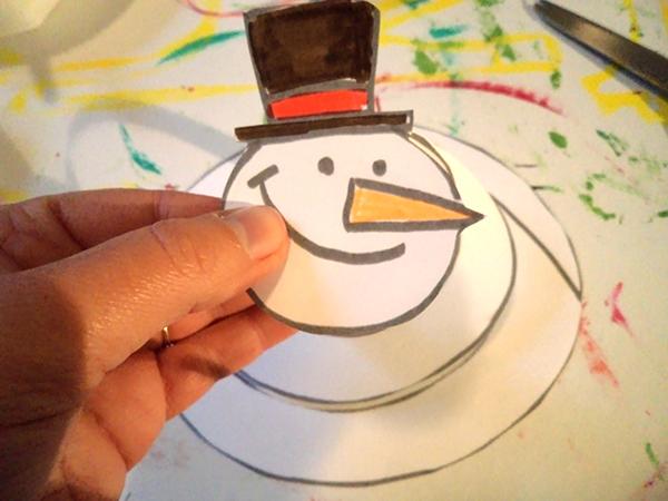 Activit s du mois - Modele bonhomme de neige ...